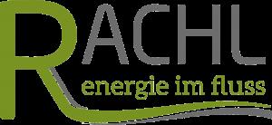 """Hier wird das Logo von Helmut Rachl, """"Energie im Fluss"""" gezeigt"""